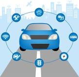 Autonomous vehicle concept Royalty Free Stock Photos