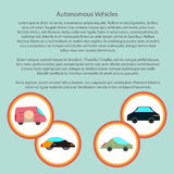 Autonomous vehicles infographic with in a circle Royalty Free Stock Photography