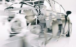 Autoonderbrekingen door de snelheid - het 3D Teruggeven royalty-vrije illustratie