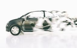 Autoonderbrekingen door de snelheid - het 3D Teruggeven stock illustratie