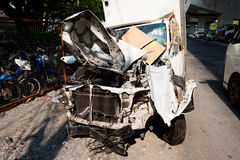 Autoongeval in Azië, Thailand stock afbeelding