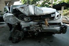Autoongeval in Azië, Thailand stock foto's