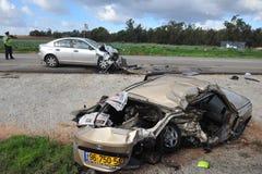 Autoongevallen in Israël royalty-vrije stock foto