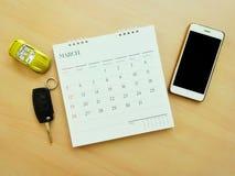 Autoontwerper en mededeling voor uw reisverzekering Stock Foto's