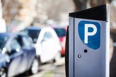 Autoparkeermeter Gemeten Rome, Italië Stock Foto's