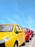 Autoparken lizenzfreie stockfotografie