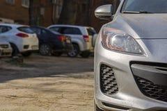 Autoparking royalty-vrije stock afbeeldingen