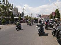 autopedden op de weg in Bali, Indonesië Royalty-vrije Stock Afbeeldingen