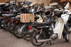 Autopedden in Souk in Marrakech Stock Fotografie
