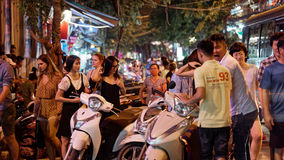 Autopedhuur in Hanoi Vietnam royalty-vrije stock fotografie