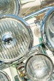 Autopedkoplampen Stock Foto's