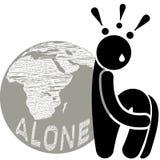 Autophobia Monophobia Isolophobia Eremophobia Medo do abandonement Medo de estar sozinho ou doneself ilustração do vetor