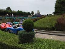 Autopia car ride at Disneyland Park Royalty Free Stock Photos