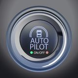 Autopilot Button Vector Illustration. Vector Illustration of AutopilotButton, Eps10 Vector, Transparency and Gradient Mes Used royalty free illustration