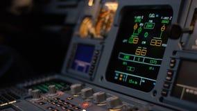 Autopilota kontrolny element samolot Panel zmiany na samolotu lota pokładzie Estokad dźwignie bliźniak engined Zdjęcie Royalty Free