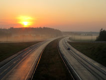 autopista Fotografía de archivo