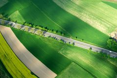 Autopista aérea - visión distante Imagenes de archivo