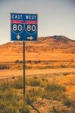 Autopista americana I-80 imágenes de archivo libres de regalías