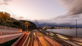 Autopista de Beppu, Japón almacen de metraje de vídeo