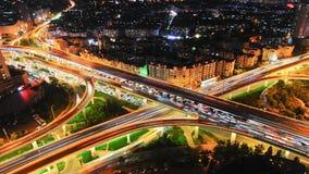 Autopista de la ciudad almacen de video