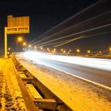 Autopista del invierno Fotografía de archivo