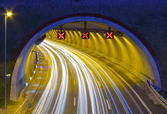 Autopista A1 - E5, en el paso con Renteria. Foto de archivo libre de regalías