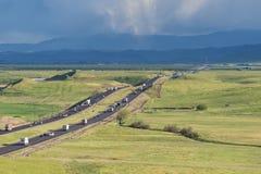 Autopista 5 en California Fotos de archivo libres de regalías