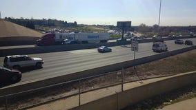 Autopista 25 en Denver septentrional almacen de metraje de vídeo