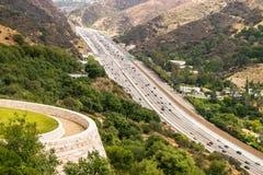 Autopista 405 en Los Ángeles Fotos de archivo