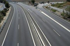 Autopista española foto de archivo