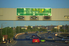Autopista inglesa A2 Foto de archivo libre de regalías