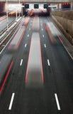 Autopista ocupada Imagen de archivo libre de regalías