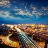 Autopista sin peaje Imágenes de archivo libres de regalías
