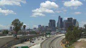 Autopista sin peaje céntrica de Los Ángeles 101 almacen de video