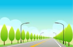 Autopista sin peaje con el cielo azul Foto de archivo libre de regalías