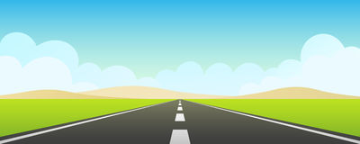 Autopista sin peaje con el cielo azul Fotografía de archivo