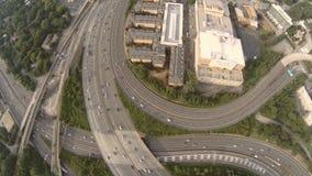 Autopista sin peaje de la antena de Atlanta metrajes