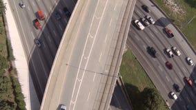 Autopista sin peaje de la antena de Atlanta almacen de video
