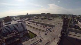 Autopista sin peaje de la antena de Detroit almacen de video