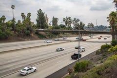 Autopista sin peaje de la autopista 210 en California Imagen de archivo libre de regalías
