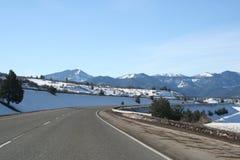 Autopista sin peaje de la montaña Fotos de archivo