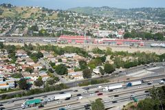 Autopista sin peaje de Los Ángeles Imágenes de archivo libres de regalías