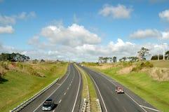 Autopista sin peaje en el país imagen de archivo libre de regalías