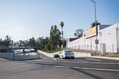 autopista sin peaje 101 en Los Ángeles Imagen de archivo