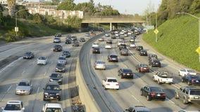 Autopista sin peaje ocupada de Los Ángeles almacen de video