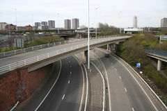 Autopista urbana foto de archivo
