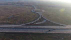 Autopista vista desde arriba almacen de video