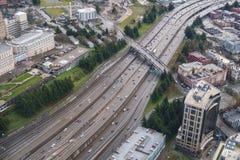 Autopista 5 y manera de Yesler Foto de archivo