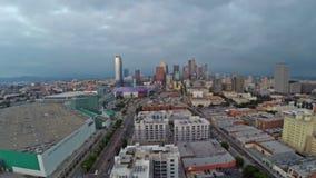 Autopistas sin peaje aéreas de California Los Ángeles almacen de metraje de vídeo