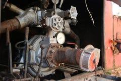 Autopompa antincendio d'annata abbandonata Fotografie Stock